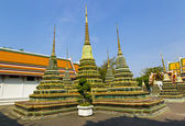 Stupas at Wat Pho temple in Bangkok, Thailand — Stock Photo