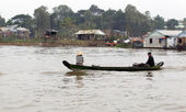 Boat on the Mekong River, Vietnam — Stock Photo