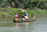 Boat on the bank of Mekong river, Vietnam — Stock Photo