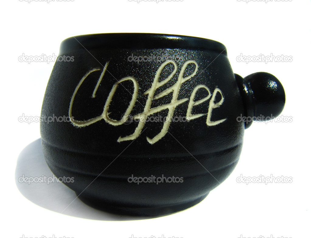 One black coffee cup with the words Coffee                                — Stock Photo #12086179