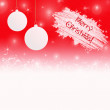 Christmas background in red white colors with Christmas greeting — Stock Photo