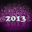 Stock Photo: New Year 2013 background with dark purple colors
