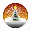 Snowy Christmas tree in the ball on a white background — Stock Photo #12774424