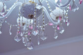 Ceiling Crystals - Crystal decorations on the ceiling of � room — Foto Stock