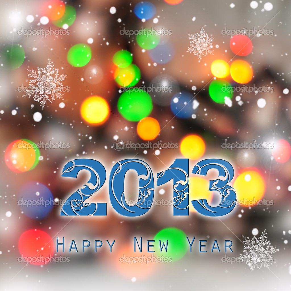 New Year abstract background with greetings 2013  Stock Photo #16949369