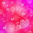 Pink abstract romantic background with hearts — Stock Photo