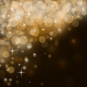Abstract golden festive background with sparkles flying — Stock Photo