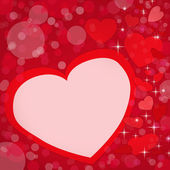 Greetings card the day of lovers with red hearts and space for t — Stock Photo