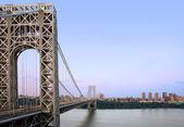 GW Bridge and Manhattan — Stock Photo