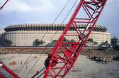 Yankee Stadium park construction — Stock Photo