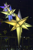 Lumières de Noël dans immeuble de time warner — Photo