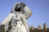 Astronaut outdoors — Stock Photo