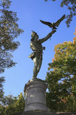 The Falconer statue Central Park NY — Stock Photo