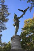The Falconer statue Central Park NY — Stock Photo