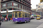 Trolley Car Chinatown NYC — Stock Photo