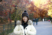 Asian girl in Central Park — Stock Photo