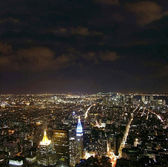 NYC at night — Zdjęcie stockowe