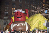 Macy's balloon inflation — Stock Photo