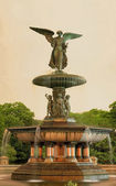 Bethesda fountain Central Park NY — Stock Photo