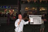 Open air preacher 14th street NYC — Stock Photo