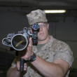 Marine with weapon — Stock Photo