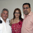Stock Photo: Mayor of GuanicPuerto Rico with Marlyn Velazquez and Yomo Toro
