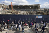 Demolition old Yankee Stadium — Stock Photo