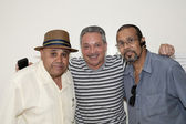 Eddie Montalvo and friends during visit to Yomo Toro at the Hosp — Stock Photo