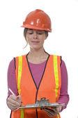 Equipamento de construção de mulher — Foto Stock