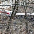 Metro North train derailment in the Bronx — Stock Photo