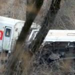Metro North train derailment in the Bronx — Stock Photo