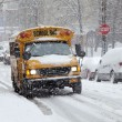 Street traffic during snow storm in New York — Stock Photo #40267285