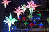 Light decorations Time Warner Building — Stock Photo