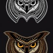 Big owl - Stock Vector
