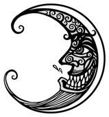 Black Moon — Stock Vector