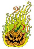 Halloween kürbis — Stockvektor
