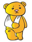Unhealthy Teddy Vector — Stock Vector