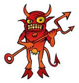 Halloween duivel karakter cartoon. — Stockvector
