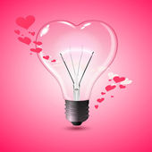 Love Lamp — Stock Vector