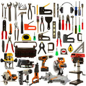 Tools Isolated on a White Background — Stock Photo