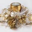 Christmas candle decoration — стоковое фото #12536336