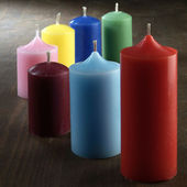 Colored candles — Стоковое фото
