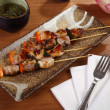 Skewers with spices — Stock Photo