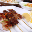 Skewers menu — Stock Photo