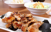 Menu with grilled chicken — Stock Photo