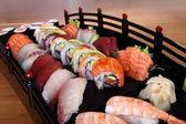 Mixed sushi tray — Stock Photo