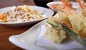 Japanse menu met noedels — Stockfoto