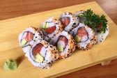 Sushi with wasabi — Stock Photo