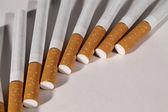 香烟排列在一个风扇 — 图库照片