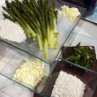 Stock Photo: Plate of asparagus
